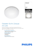 Data sheet Philips myLiving Suede ceiling light D28