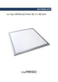 Spécifications Lumego SIRIUS LED Panel silber 62,5x62,5cm