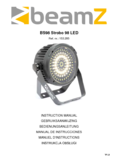 Manuel d'instructiones BeamZ BS98 Strobo 98 LED SMD DMX IRC