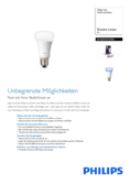 Spécifications Philips Hue LED E27 extension RGBW 10W