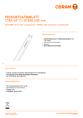 Data sheet Osram SubstiTube Advanced 7,5W 600mm 840 HF T8
