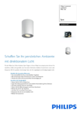 Spécifications Philips hue Pillar LED 1 Spot blanc