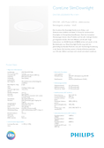 Data sheet Philips CoreLine Slim Downlight 28W 830