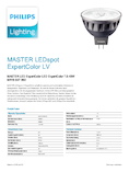 Spécifications Philips MASTER LEDspot ExpertColor 7,5-43W MR16 927 36° DIM