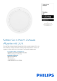 Spécifications Philips myLiving Rastaban Downlight blanc
