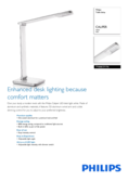 Data sheet Philips myHomeOffice table lamp Caliper white
