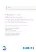 Installationsanleitung Philips Instant Fit Tubes EVG