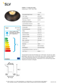 Data sheet SLV HORN-T GU10 Downlight black