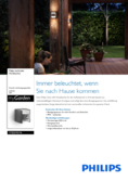 Spécifications Philips myGarden IR-lampe murale Grass 2x4,5W acnthracite