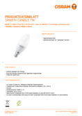 Spécifications  Osram Smart+ Candle B40 E14 TW