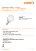 Spécifications Osram LED SUPERSTSTAR RETROFIT terne DIM CLP 25 2,5W 827 E14