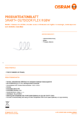 Hersteller Datenblatt Osram Smart+ Outdoor Flex RGBW