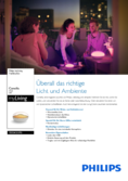Herstleer Datenblatt Philips myLiving LED-Tischleuchte Camellia transparent