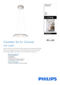 Spécifications Philips myLiving Ayr lampe suspendue