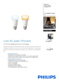 Data sheet Philips Hue White Ambiance LED E27 set of 2 9,5W