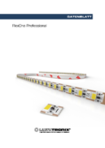 Data sheet FlexOne Professional LED Strip, 1 LED, 10mm, 24V