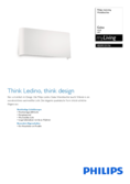 Data sheet Philips myLiving wall light Galax 21cm white