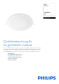 Data sheet Philips myLiving LED-Downlight Hadron square white