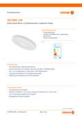 Spécifications Osram LED RING 18W 827