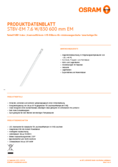 Spécifications Osram SubstiTube Value 8W 600mm 830 EM T8