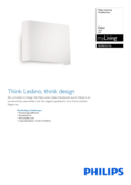 Spécifications Philips myLiving lampe murale Galax 13cm blanc