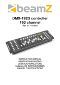 Instruction manual BeamZ DMX192S controller 192 channel